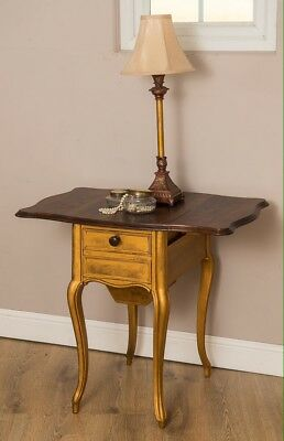 Vintage Antique French Side Table, Bedside, Hall Table