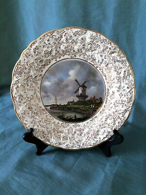 Vintage 1940's James Kent of England Longton 'The Mill' Plate