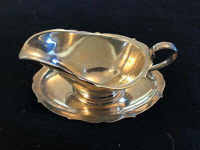 Reed & Barton Sterling Sauce Boat and Tray