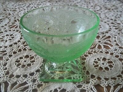 One Green  Horseshoe - Indiana Glass Company  Depression  Sherbet Cup
