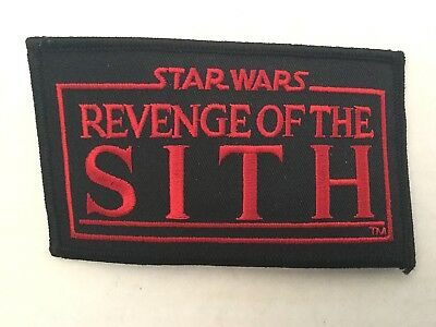 Star Wars REVENGE OF THE SITH Embroidered Patch - 2005 Lucasfilm Licensed!