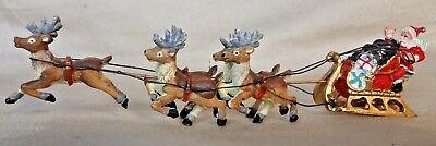 Santa Sleigh and Reindeer figure
