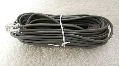 Phone Line Cable RJ11 Wire Modem Fax Scanner 26AWG 2C Gray Cord 25ft RA57
