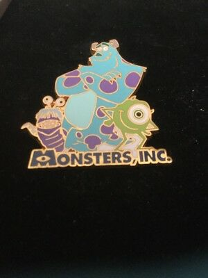 Disney Store JAPAN 2002 Pin Monsters Inc Sulley Mike Boo Pixar JDS 10416 Retired