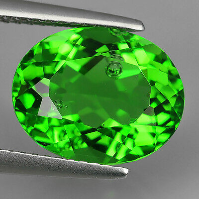 4.48 Ct Great Luster Natural Chrome Green  Moldavite Oval Cut Loose Gemstones