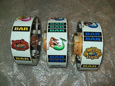 Mermaid's Gold WMS Slot Machine Reels and Lighted Assembly