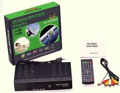Decoder Digitale Full Hd Wi-Fi Combo Digitale Terrestre Dvb-T2/s2 E Satellitare