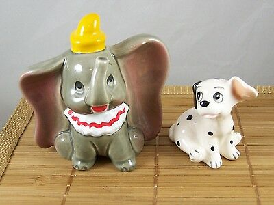 DISNEY Dumbo and Dalmatian Puppy  Figurine Stamped