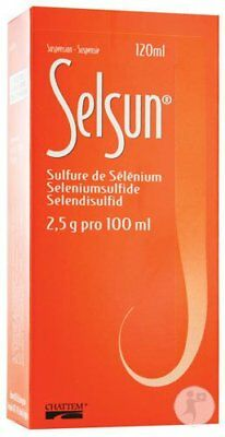 ORIGINAL Selsun Sulfure De Sélénium 2,5% Suspension 120ml