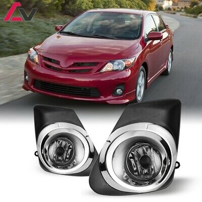 For Toyota Corolla 11-13 Clear Lens Pair OE Fog Light Lamp+Wiring+Switch Kit