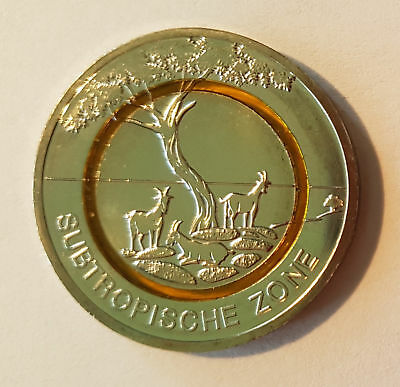 5 Euro Münze J Suptropische Zone 2018 Mit Orange Polymerring In