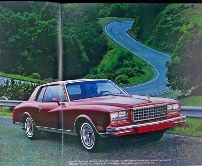 Original Vintage-'80s One-Owner 1980 Chevrolet Monte Carlo Brochure Catalog RARE