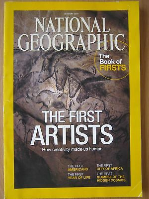 National Geographic magazine January 2015 Book of Firsts Artists American Africa