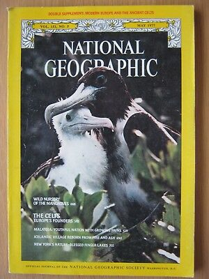 National Geographic magazine May 1977 The Celts Nursery of Mangroves Malaysia