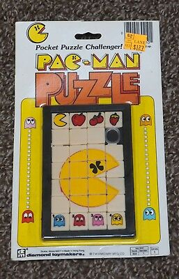 New/Sealed Vintage 1980s PAC-MAN POCKET PUZZLE CHALLENGER by Diamond Toymakers