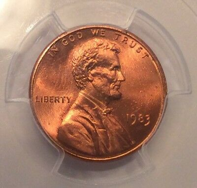 1983 Lincoln Doubled Die Reverse DDR - PCGS MS66RD Fiery Red! #10419