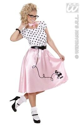 Ladies 50s Poodle Girl Costume Rockabilly Rock N Roll 50s Fancy Dress Outfit