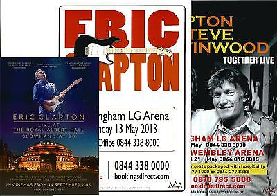 Eric Clapton  (Steve Winwood)  Flyer  + Royal Albert Hall  Slowhand 2015  Cinema