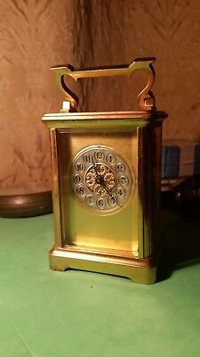 French 8 day Carriage Clock. C.1890. Lever platform. Working. Height 6 inches.