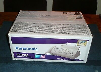 Panasonic KX-FP205 Plain Paper Fax Copier Phone! Brand New Factory Sealed!