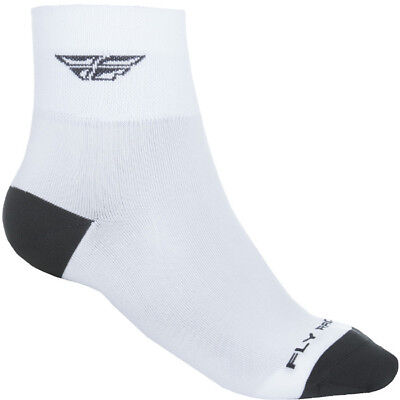 Fly Racing NEW Mx Shorty White Adults Casual Moto Sock Pair