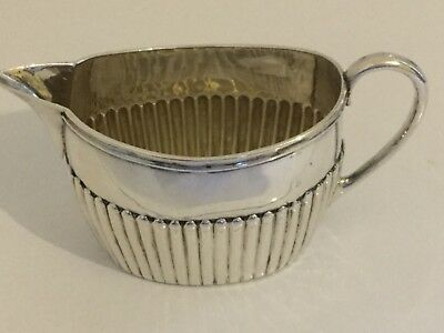 Charles Harris Hight Quality Sterling Silver Fluted Cream Jug Victorian 99 grams