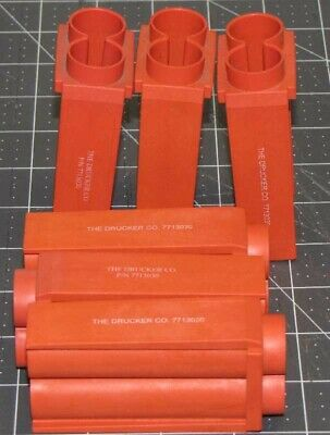 Drucker 653es 653V centrifuge tube shields carriers red 17x100mm 7713030 6/set