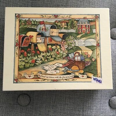 Vintage 1 Box (16pcs) Lang De Luxe Note Cards Country Mail Box by Susan Winget.