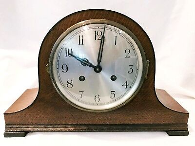 Vintage Mantel Clock Camel Back Pendulum & Key For Parts or Repair Only