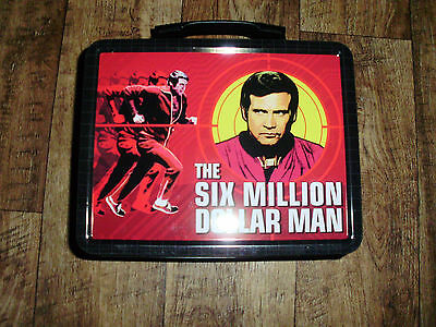 The Six Million Dollar Man Reproduction Tin Lunchbox  Great Graphics Mint