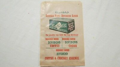 Brooke Bond Tea Coffee Cocoa Beef Shop Grocery Paper Advertising Vintage Bag