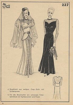Wedding dress and gown  pattern 227 Ramsauer, Golden Rule sewing