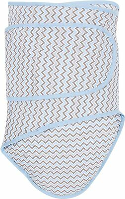 Miracle Blanket Chevrons with Blue Trim Colic Baby Swaddle Blanket