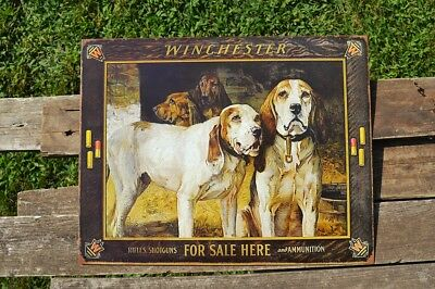 Winchester Rifles and Ammunition For Sale Tin Metal Sign M1866 Yellow Boy