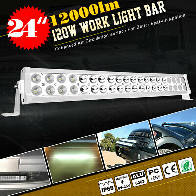 "17Inch 108W LED Work Light Bar + 4X 4"" 18W Offroad Driving Lamp Spot Flood Combo"