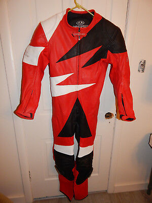 AGV Sport racing suit 1 piece leather bike motorcycle 44 us