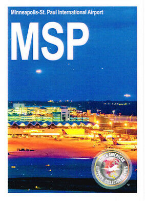 MSP Collectible Airport Trading Card Minneapolis-St. Paul International Planes