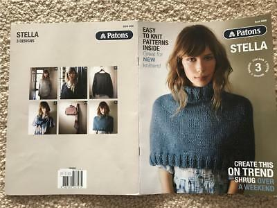 Patons Knitting Book 8009 Stella 3 Designs Beginner Easy Knits Patterns