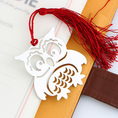 Cartoon Book Markers Birds with Tassels Metal Bookmark Creative Kids Gift New