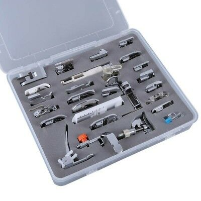52pcs Domestic Sewing Machine Foot Presser Feet Snap On For Brother Singer Tools