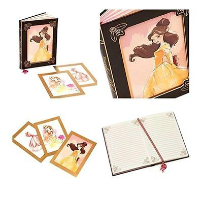Disney Store ART OF BELLE JOURNAL Notebook 3 Interchangable Covers NWT Sold Out