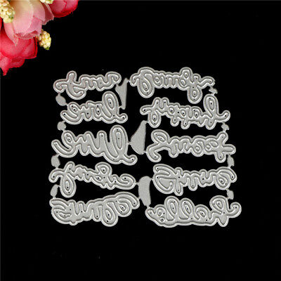 10 Blessings words Metal Cutting Dies For Scrapbooking Card Craft Decor O