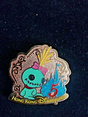 HONG KONG DISNEYLAND SCRUMP Lilo and Stitch 5th Anniversary PIN