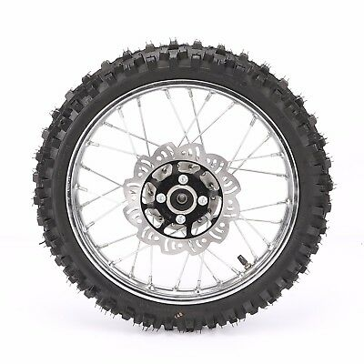 12mm Front 14 inch Pit Bike wheels GuangLi 60/100-14 Tire Alloy Rims Disc Rotor