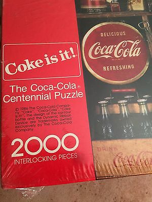 Vintage 1986 Coca Cola Coke Jigsaw Puzzle  Authentic Springbok 2000 Pieces New