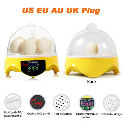 Automatic Turning Digital 7 Eggs Incubator Poultry Hatcher Temperature Control