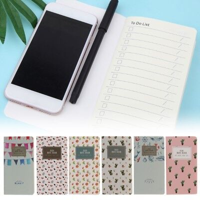 Mini Portable Diary Notebook Paper Journal Travel Planner Notepad 48 Lined Pages