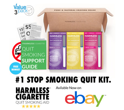 Harmless Cigarette Naturally Effective Quit Smoking Aid Habit Replacement 3-Pack