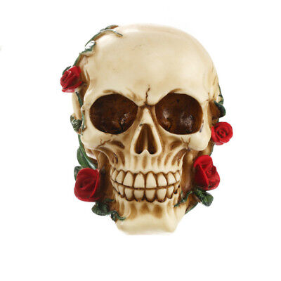 1 Piece Resin Skeleton Head Skull Ornament Figurine Halloween Party Home Decor