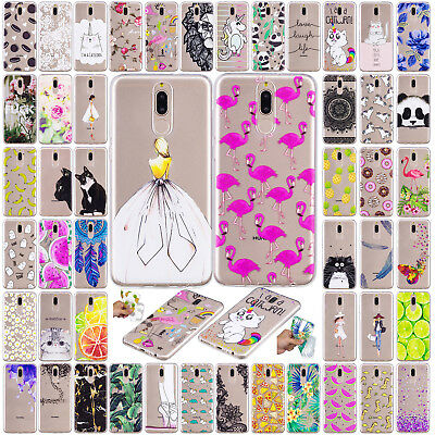 3D Printed Pattern Clear Soft TPU Case Cover For Huawei Mate 10 Pro P9 Lite Mini